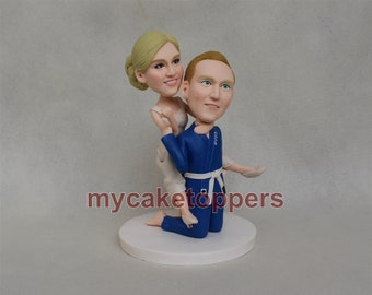 custom wedding cake topper wrestling cake toppers