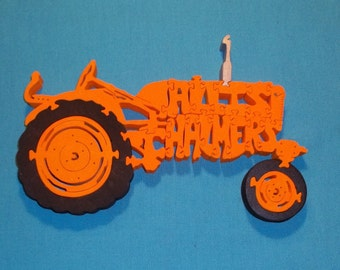 Allis Chalmers Tractor Wooden Scroll Saw Puzzle