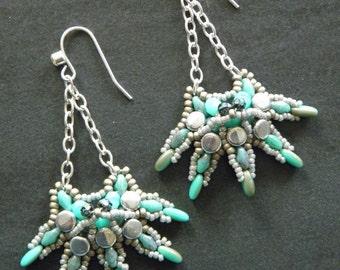 Pattern Paun Earrings