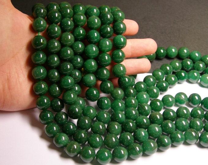 Green Aventurine 14mm round beads -1 full strand - 29 beads - Brazil aventurine - NRG125