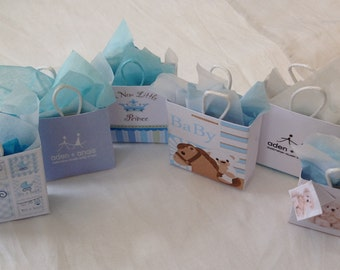 Dolls House Miniatures -  1/12th baby boy Gift Bags