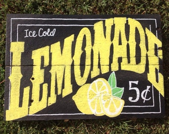 Ice Cold Lemonade Sign