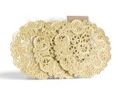 Gold Foil Medallion Doilies / Set of 12