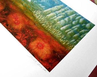 Art print - landscape - sea - abstract - Underwater City
