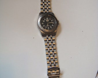 Elgin Steel watch MISSING back and movements for parts Mens