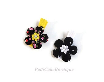 Baby Hair Clips, Toddler Hair Clips, Baby Clips, Infant Hair Clips, Baby Headband, No Slip Hair Clips, Black Hair Bows, 10
