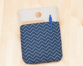 kindle voyage case / kindle case / Kindle Paperwhite sleeve / Kobo aura case / kobo glo case - navy -