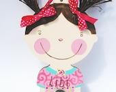 Peg Rack for Girls, Nursery Decorative Hook, Pink Spiral
