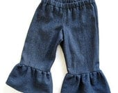 20% CLOSE OUT SALE Indigo Denim Ruffled Pants or Capris