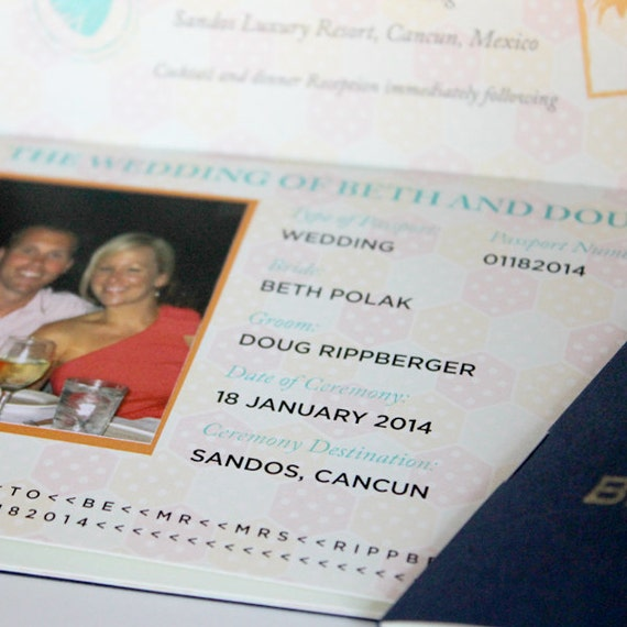 Passport Destination Wedding Invitation By PixieChicago On