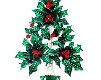 Ruby Christmas Tree Pin Christmas Pin Brooch 1003451
