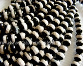 Tibet beads, Natural agate beads, Hand paint agate beads in black,6mm,