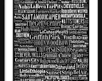 Los Angeles Bus Roll - Subway Scroll Poster Print Typography Text