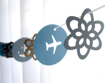 "6 Foot - 2"" Destination Garland - available in your choice of colors  -  Perfect for Parties, Bridal or Baby Showers"