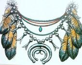 Unisex T Shirt Native American Indian Tribal Design T Shirt Free Shipping to USA