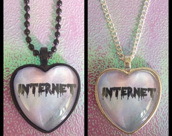 Internet Heart Cameo Necklace