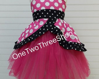 Custom Boutique Clothing Minnie Mouse Inspired Sassy girl Set
