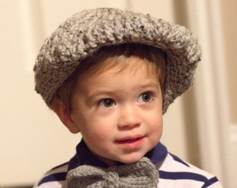 CROCHET PATTERN - cap and bow tie, derby, golf, hat, PDF file instant download