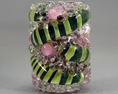Clearance  SALE   Lampwork  Focal Bead  Boro  Jewelry Supplies