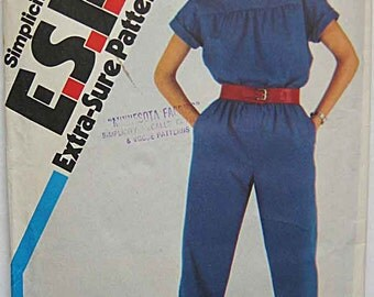 Retro 80's Misses' Jumpsuit, Simplicity 5699 Pattern Sizes 10-12