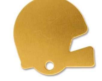 Brass Football Helmet Stamping Blank- Approx. - 22.75 x 22.3   mm 24g. You get 5