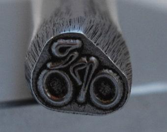 Biker/ Triathlete  Design Stamp-Metal Stamp LARGE-Exclusive To Me-New 3/8 in.-Metal Stamping Tool-Perfect for Metal Stamping and Metal Work