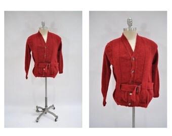 vintage cardigan SWEATER wool shetland indian brand sweater