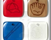 """Glossy Acrylic Embellishments """"Baseball"""" Jewelry Clippies Hair Clips Bracelets Bookmarks Bottle Cap Charms Scrapbooking Crafts Cards SBC"""