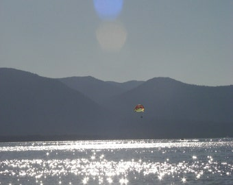 Digital Download Fine Art Print PARASAILING Over LAKE TAHOE
