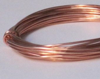 Raw Copper Wire -- 18 gauge   (Qty 10 ft)    65-128