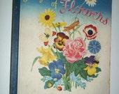 FLOWERS Golden Book Mabel Witman 1943 Illustrations Little Golden Book children book floral