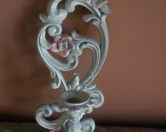Vintage Wall Plaque Candle Holder