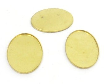 50 pcs.gold plated setting for cameo cab cabochone 19X26mm Bezel