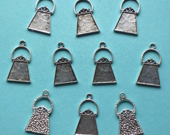 Sale, HANDBAG / PURSE Charms x 10, antique silver tone, charm, UK seller, Reduced, was 1.80, now only 1 pound while stocks last