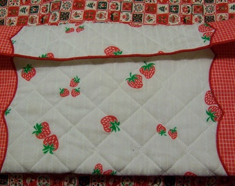 quilted strawberry bag