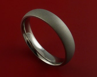 Titanium Narrow Ring Unique Finish Band Made to Any Size 3-22