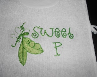 Sweet P  over the head bib