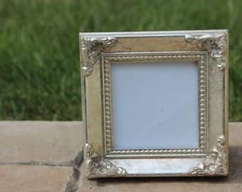 Set Of 10 Mini Vintage Style Frames Ivory White Place Card