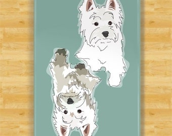 Clean Dirty Dishwasher Magnet with White Dog - Clean Dog Dirty Dog Westie Dog Dishwasher Magnet
