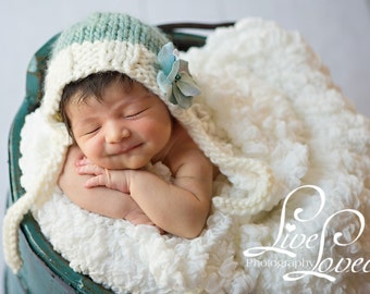 Download PDF knitting pattern k-40 - Newborn chunky classic bonnet