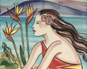 Sea Breezes, Tropical Woman, Bird of Paradise