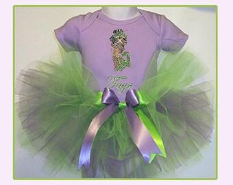 Princess Tiana Tutu Set , Princess and the Frog Tutu , Princess Tiana Birthday Tutu , 1st Birthday Tutu Set , Disney Princess Tutu Set
