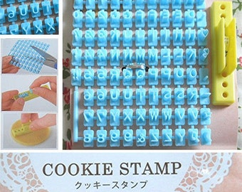 Alphabet stamp for clay, cookies, biscuits / alphabet cookie stamp / alphabet cookie cutter/a Alphabet deco stamp, shipped from Japan