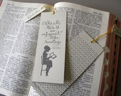 Jane Austen LETTERPRESS BOOKMARK - After all there is no enjoyment like reading.