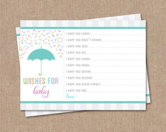 Wishes for Baby Card - Printable - BABY SPRINKLE