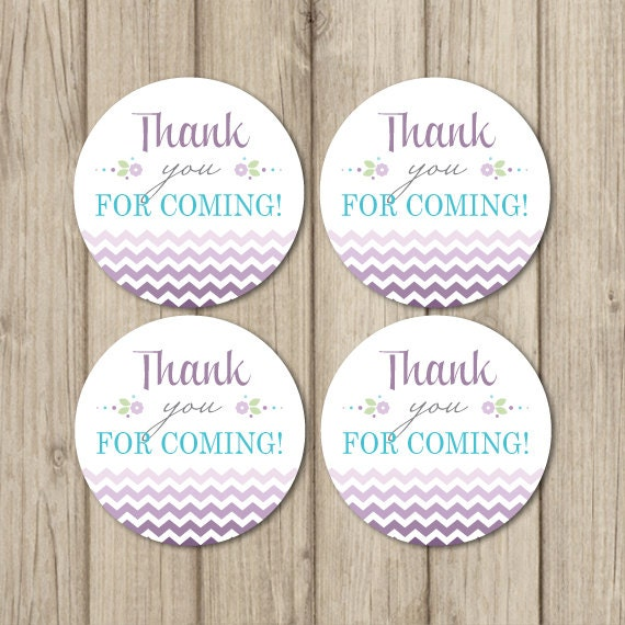 thank you favor tags baby shower favor sticker 2