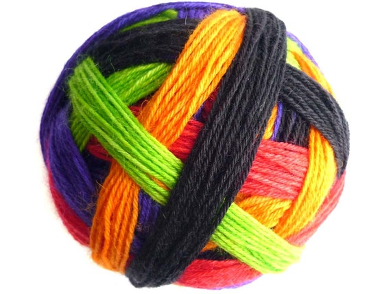 Tangy Self-Striping Sock Yarn in Fireworks