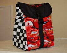 "Insulated/Waterproof Lunch Bag Made From ""Cars"" Fabric"