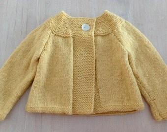 Beautiful Daisy Swing Cardigan.....Hand Knitted in New Zealand.... MADE TO ORDER