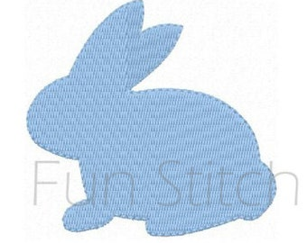 Bunny machine embroidery design instant download